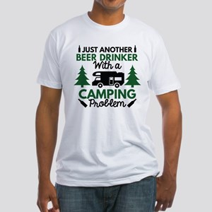 Beer Drinker Camping Fitted T-Shirt