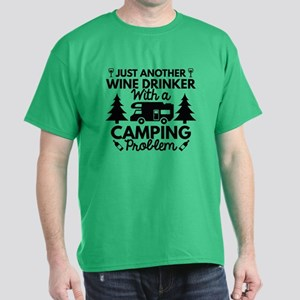 Wine Drinker Camping Dark T-Shirt
