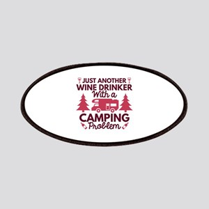 Wine Drinker Camping Patches