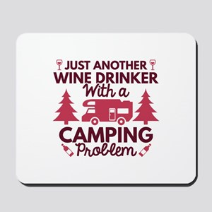 Wine Drinker Camping Mousepad