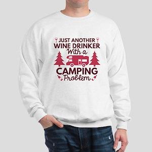Wine Drinker Camping Sweatshirt