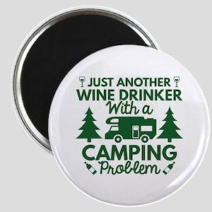 Wine Drinker Camping Magnet