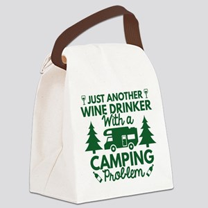 Wine Drinker Camping Canvas Lunch Bag