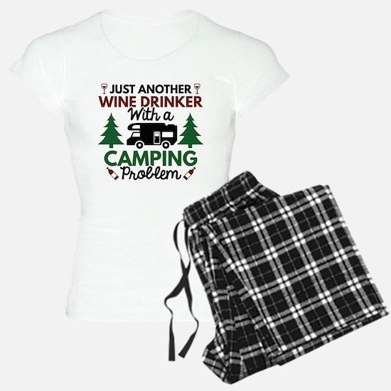 Wine Drinker Camping Pajamas