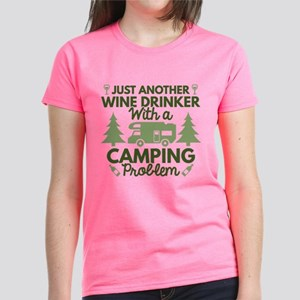 Wine Drinker Camping Women's Dark T-Shirt