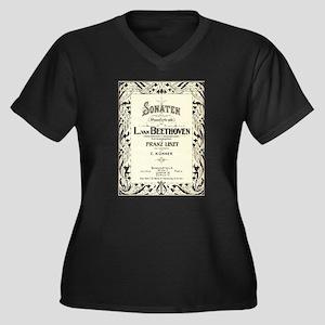 Beethoven Sonata Plus Size T-Shirt