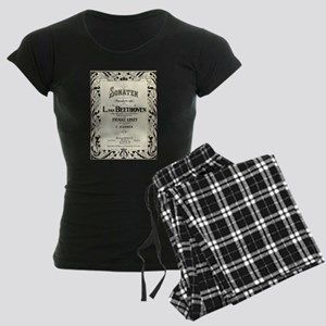 Beethoven Sonata Women's Dark Pajamas