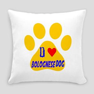 I Love Bolognese Dog Everyday Pillow