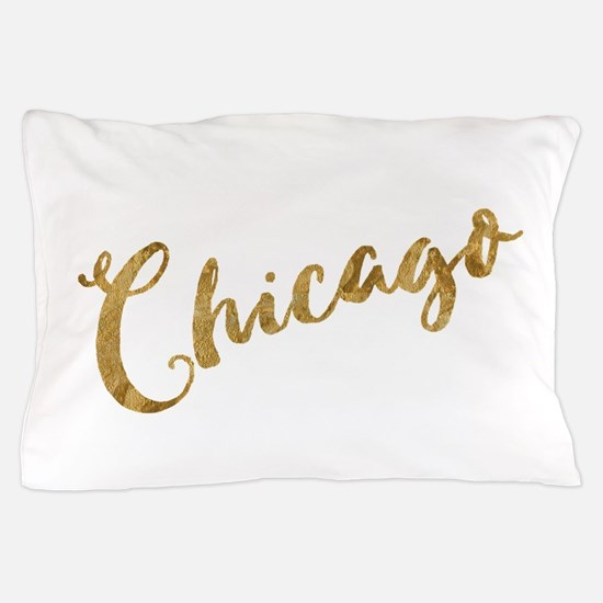 Golden Look Chicago Pillow Case