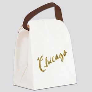 Golden Look Chicago Canvas Lunch Bag