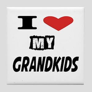 I Love My Grandkids Tile Coaster
