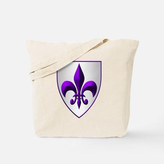 fleur de lis Purple Shield Tote Bag