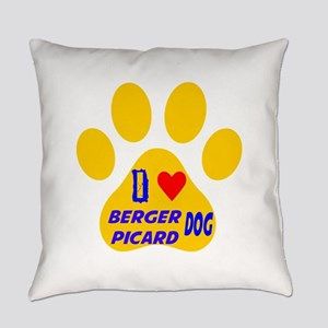 I Love Berger Picard Dog Everyday Pillow