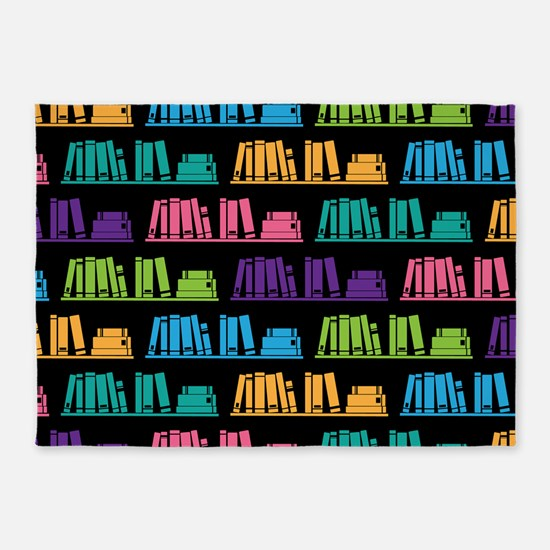 Book Lover Librarian Reader 5'x7'Area Rug