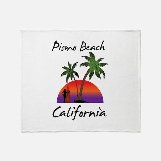 Pismo Beach Throw Blanket