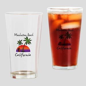 Manhattan Beach California Drinking Glass
