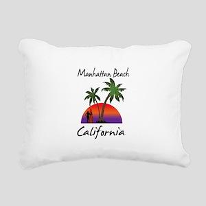 Manhattan Beach Californ Rectangular Canvas Pillow