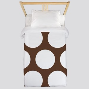 Large Polka Dots: Chocolate Brown Twin Duvet