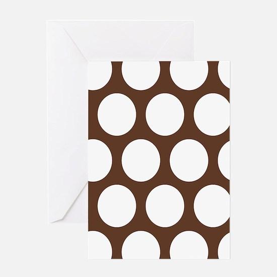 Large Polka Dots: Chocolate Brown Greeting Card
