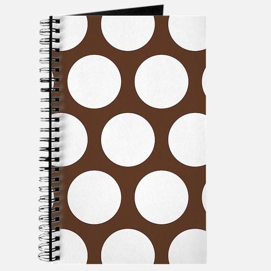 Large Polka Dots: Chocolate Brown Journal