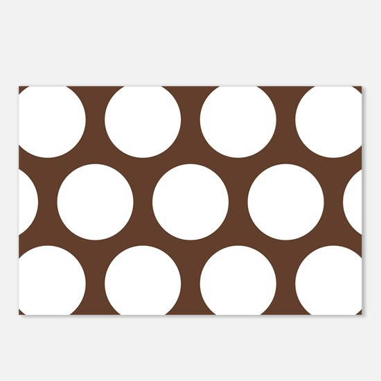 Large Polka Dots: Chocola Postcards (Package of 8)