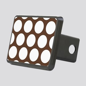 Large Polka Dots: Chocolat Rectangular Hitch Cover