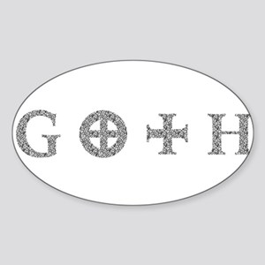Goth Oval Sticker