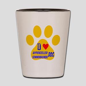 I Love Appenzeller Sennenhunde Dog Shot Glass