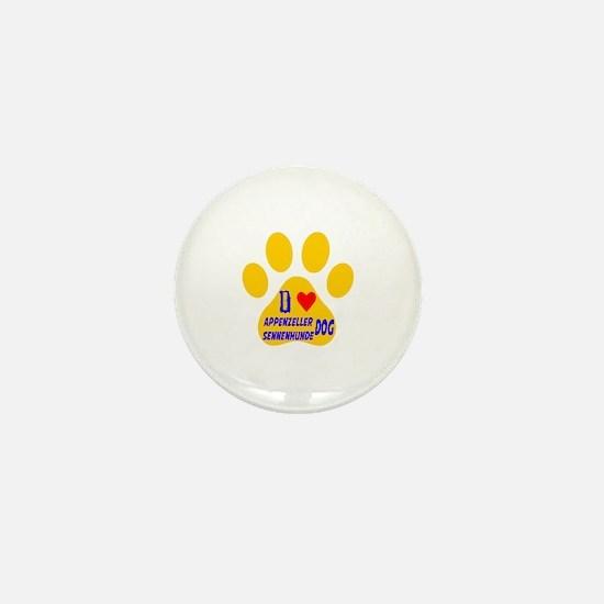 I Love Appenzeller Sennenhunde Dog Mini Button