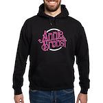 Ab Logo (pink Print, White Circle) Hoodie (dark)