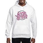 AB logo (pink print, black circle) Hoodie