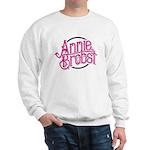 AB logo (pink print, black circle) Sweatshirt