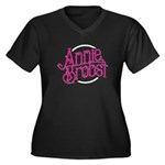 Ab Logo (pink W/ White Circle) Plus Size T-Shirt