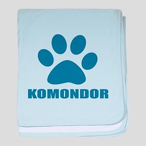 Komondor Dog Designs baby blanket