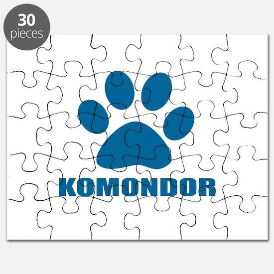 Komondor Dog Designs Puzzle