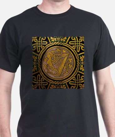 Ornate Irish Harp T-Shirt