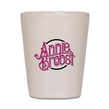 AB logo (pink print, black circle) Shot Glass