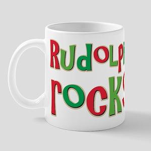 Rudolph Rocks Christmas Reindeer Mug
