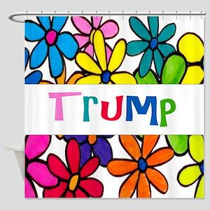 Trump Daisy Design Shower Curtain