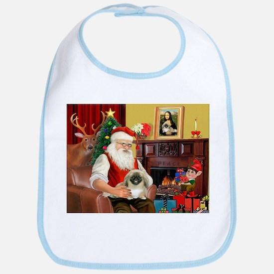 Santa's Pekingese (#1b) Bib