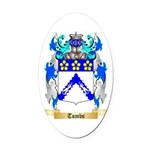 Tombs Oval Car Magnet