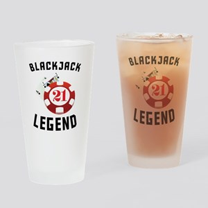 Blackjack Legend Drinking Glass