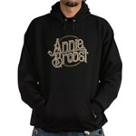 Ab Logo (brown Print, Brown Circle) Hoodie (dark)
