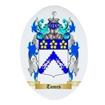 Tomes Oval Ornament
