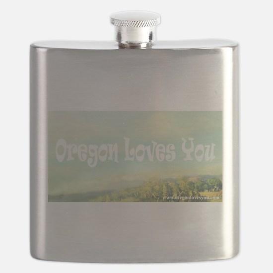 Oregon Loves You Flask