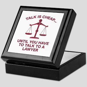 Talk Is Cheap Keepsake Box