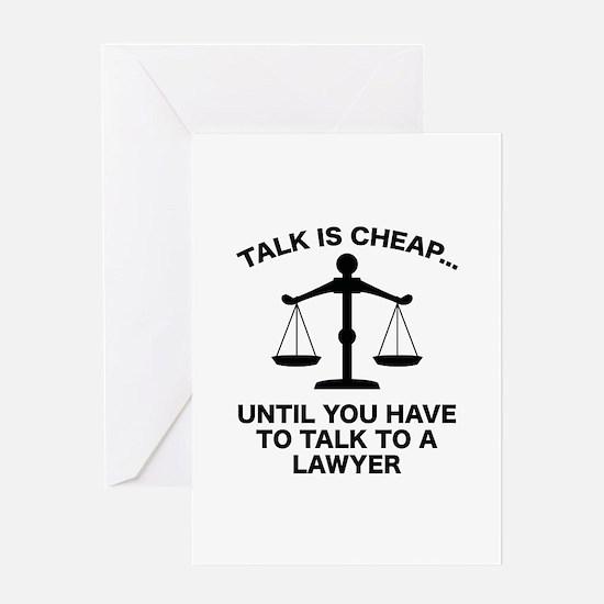 Talk Is Cheap Greeting Card