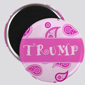 Trump Paisley Pink Magnet