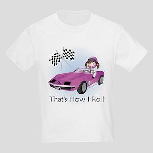 Race Car Babe (BR) Kids Light T-Shirt
