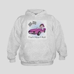 Race Car Babe (BR) Kids Hoodie